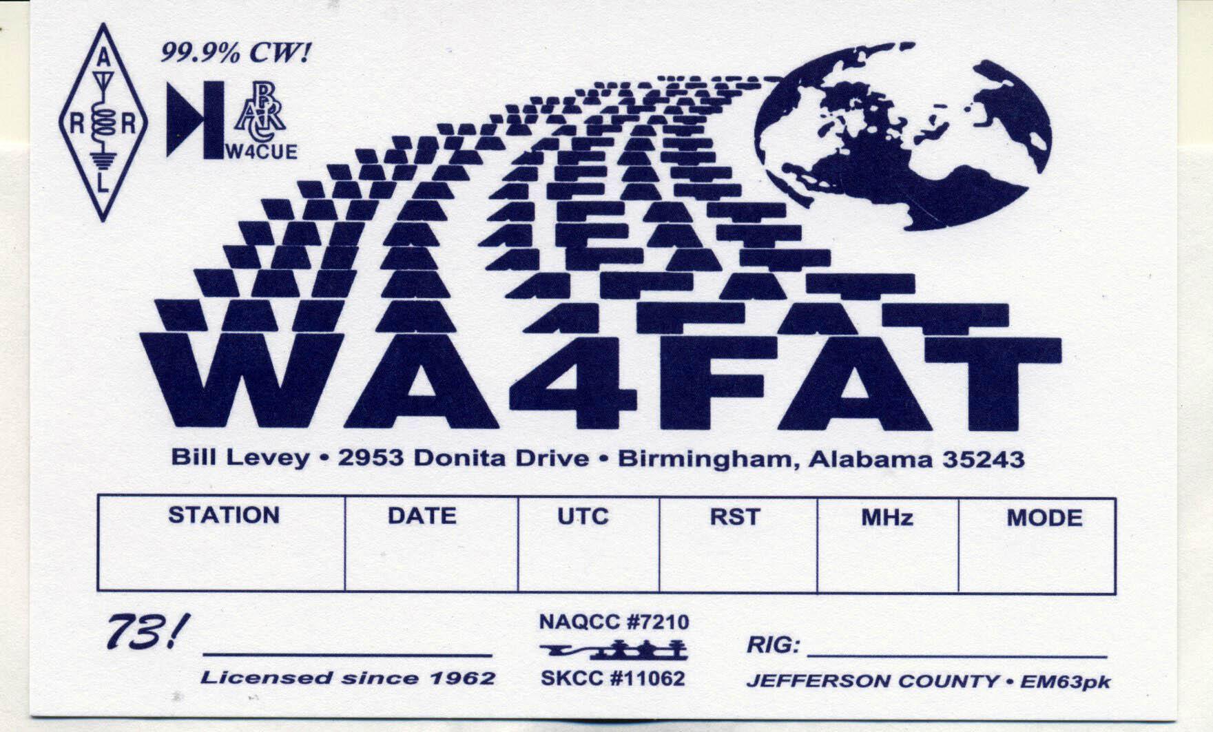 QSL Cards | WA4FAT